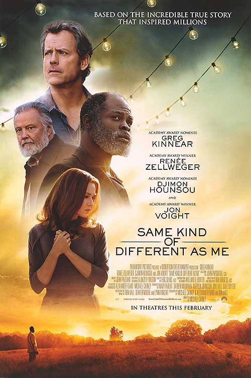 same kind of difference as me The movie same kind of different as me hit box offices october 20, 2017, starring  renee zellweger, greg kinnear, djimon hounsou, and jon.