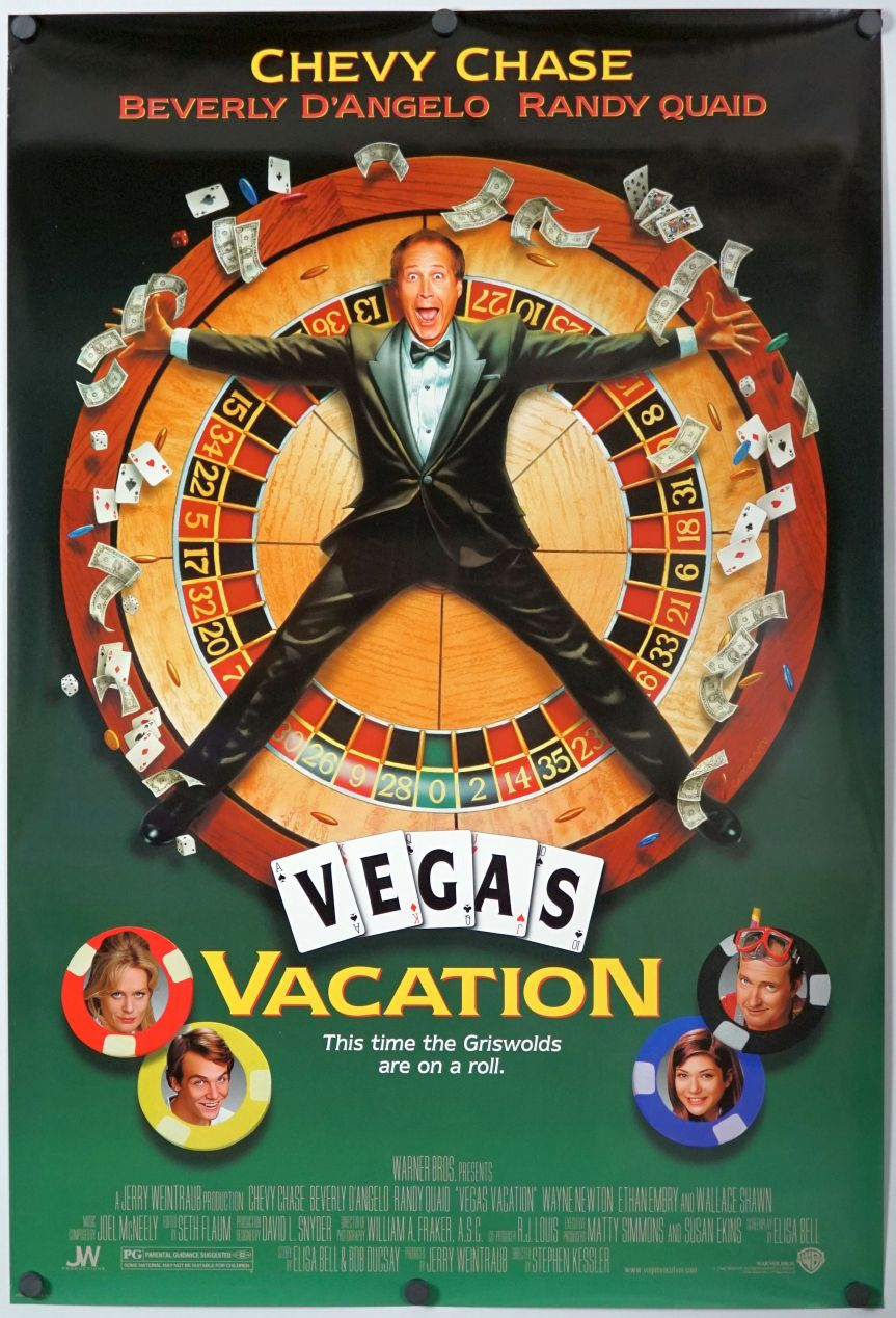 Vegas Vacation Movie Woman: Original DS Movie Poster D/S 27x40 Chevy